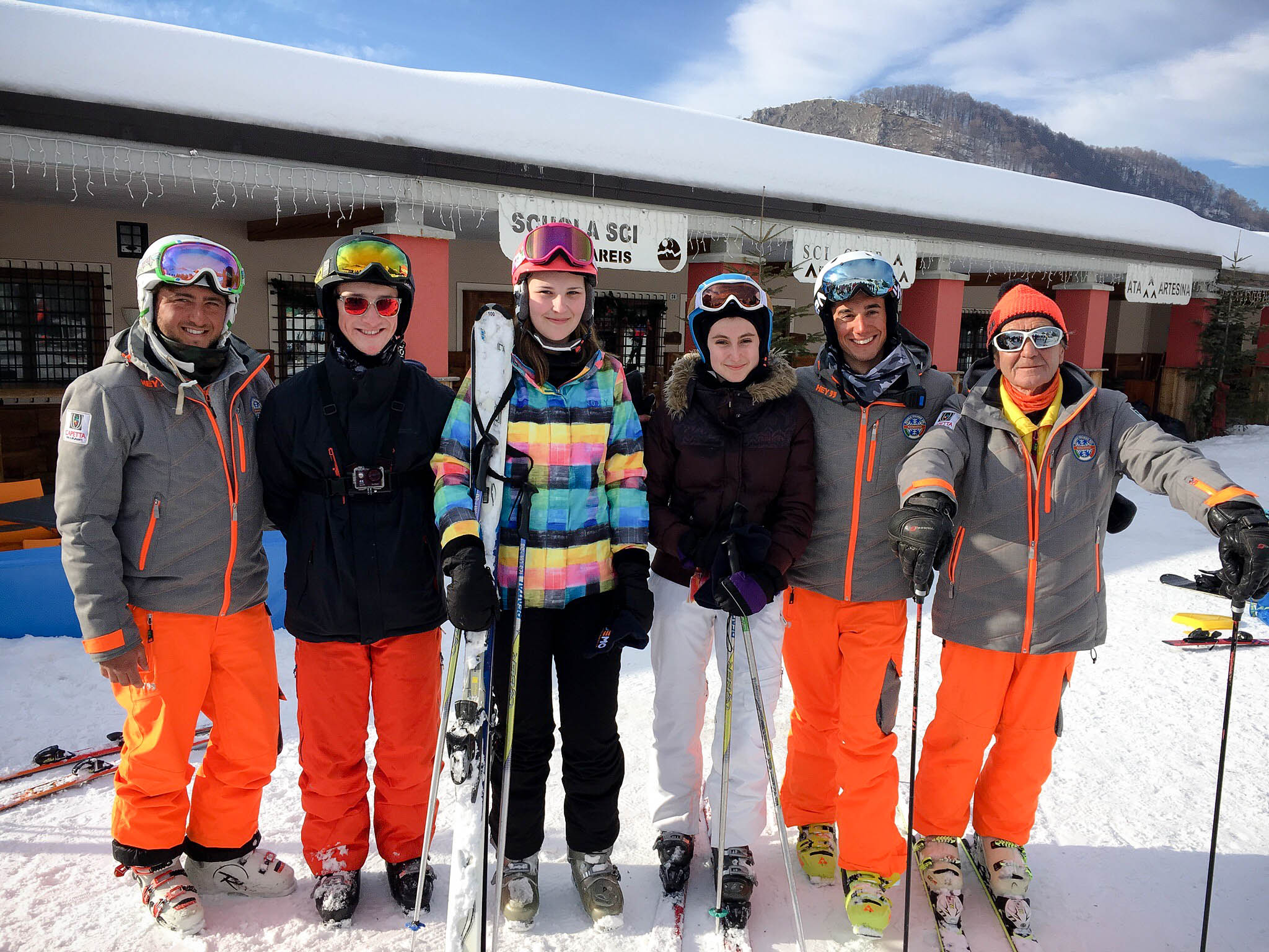 Sixth Form students on their ski trip in Italy