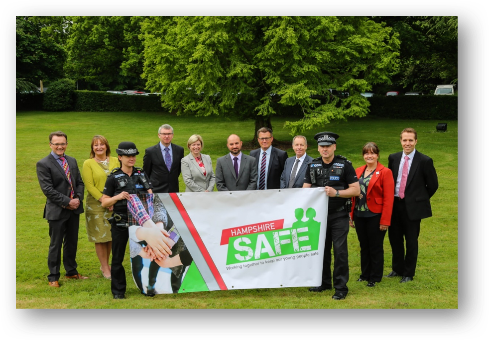Principles and Headteachers from the 13 different schools and colleges join to keep Hampshire Safe
