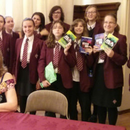 Arnewood Students meet Helen Dennis at the Hampshire Book Awards