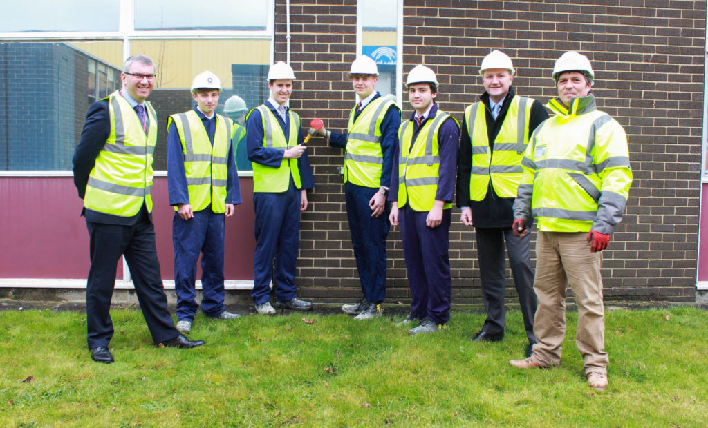 Construction students help get the multi-million pound re-fit underway