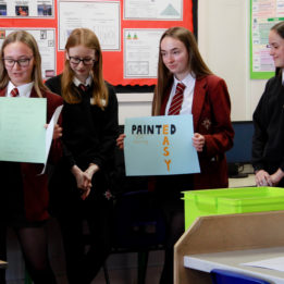 Students present their ideas in a business enterprise workshop