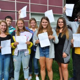 Students on cloud nine for GCSE Results Day